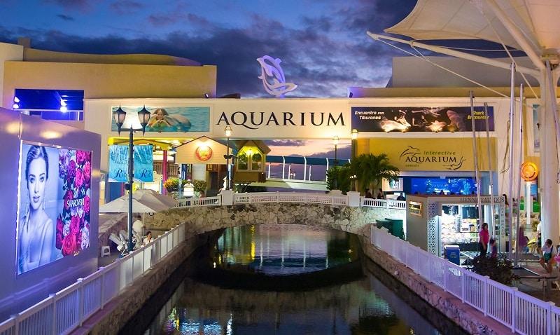 Aquário do shopping La Isla para ir com crianças em Cancún