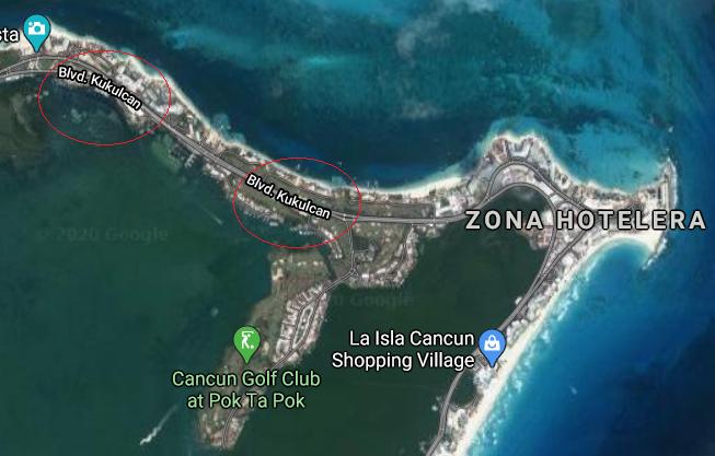 Boulevard Kukulcan em Cancún