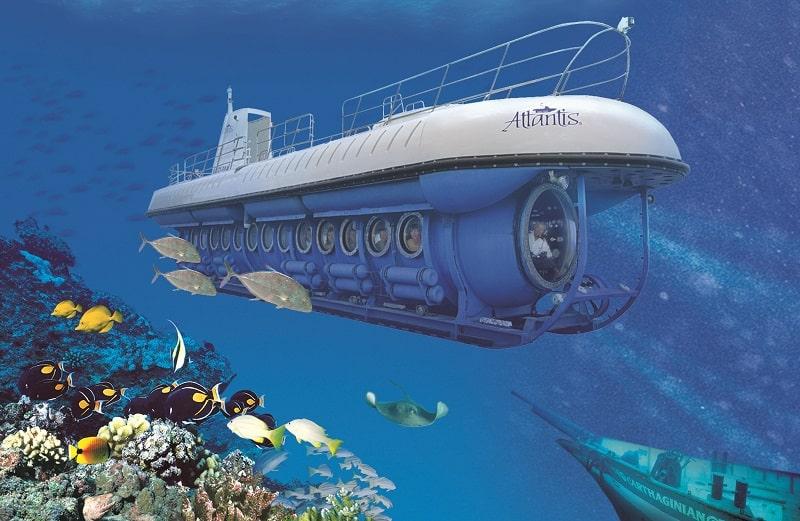 Submarino na Ilha de Cozumel para ir com crianças em Cancún