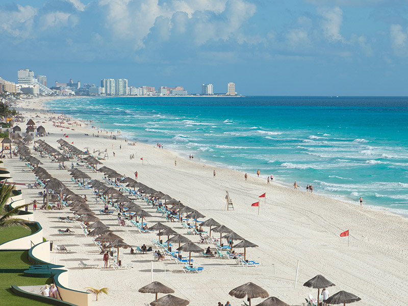 Praia para curtir muito em Cancún