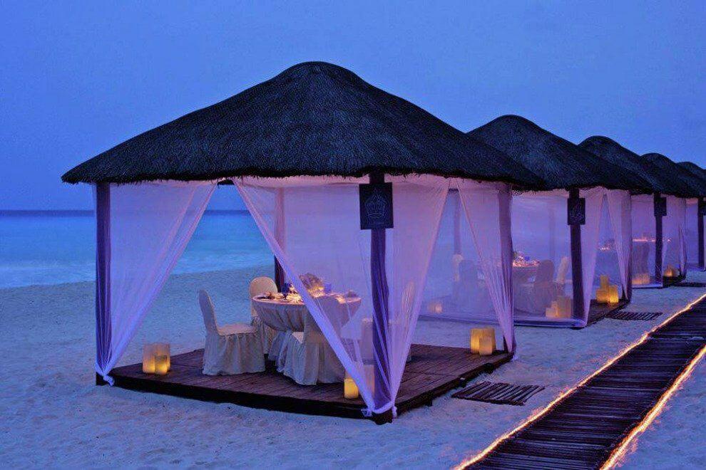 Jantar nas Casitas do Ritz para casais apaixonados em Cancún