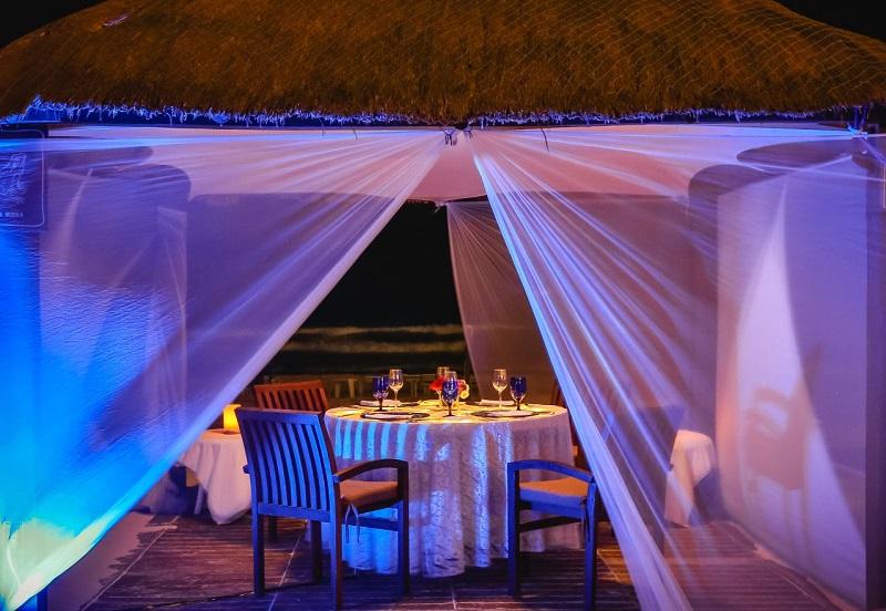 Jantar no Casitas do Ritz em Cancún
