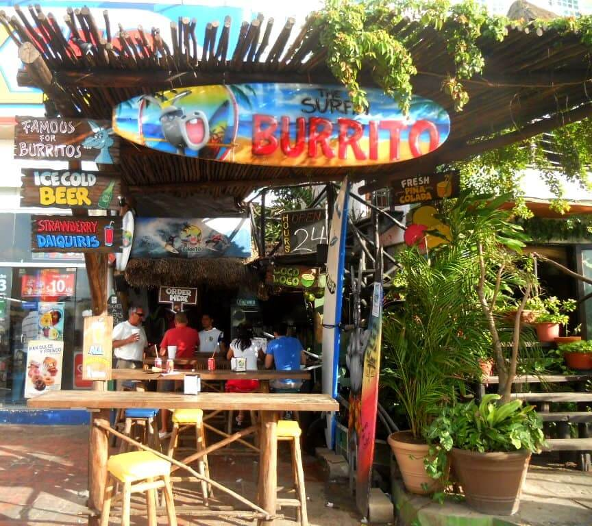 Restaurante The Surfin Burrito em Cancún