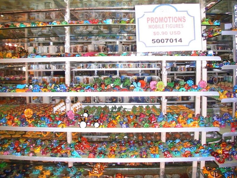 Lembrancinhas na loja Plaza La Fiesta - Cancún