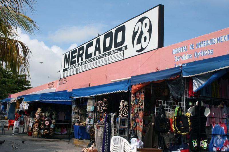 Entrada Mercado 28 em Cancún
