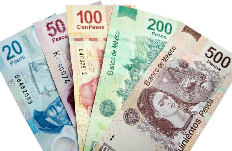 Pesos para Tijuana e todo o México