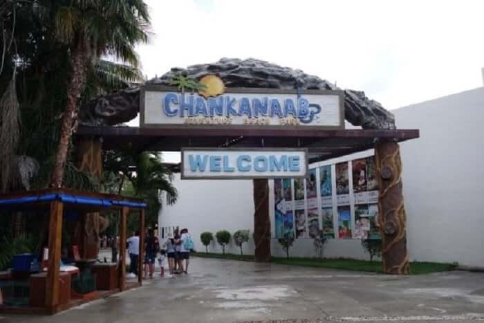 Entrada do Parque Chankanaab Beach Adventure Park em Cancún