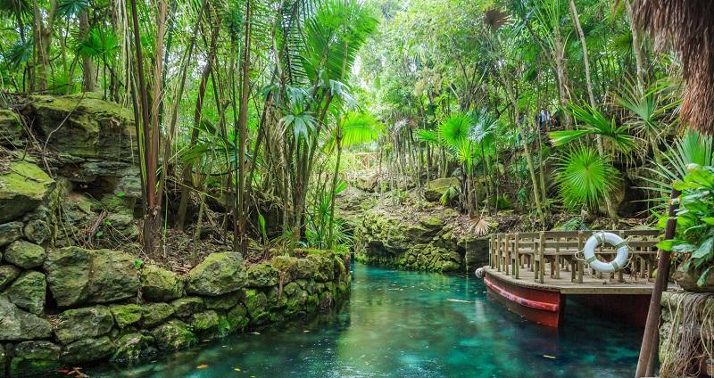 Paradise River no parque Xcaret Cancún