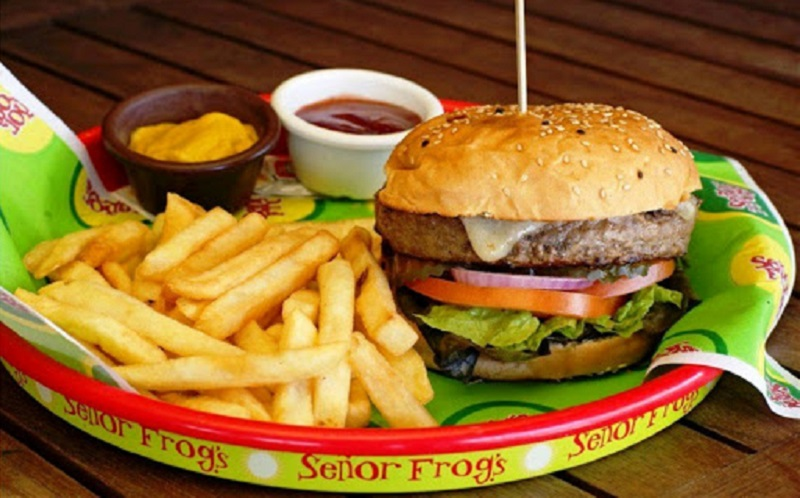 Hambúrguer do Señor Frog's