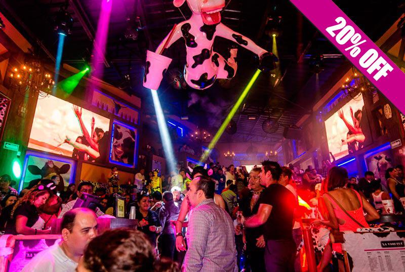 Diversão no bar e balada La Vaquita em Cancún