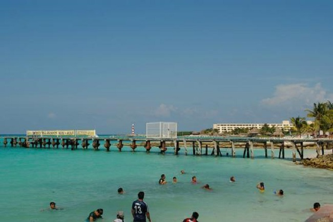 Estrutura da Playa Caracol em Cancún