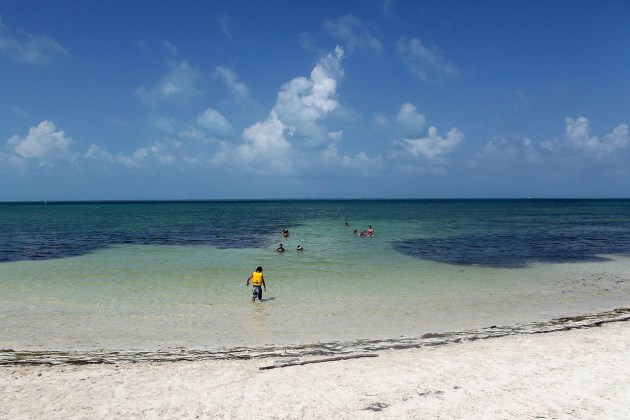 Diversão na Playa Las Perlas em Cancún
