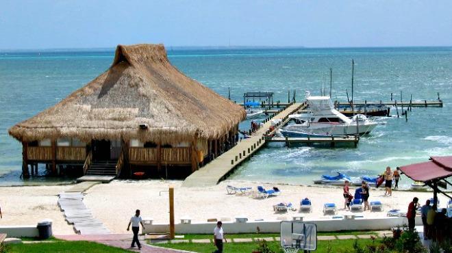 Localização da Playa Las Perlas em Cancún
