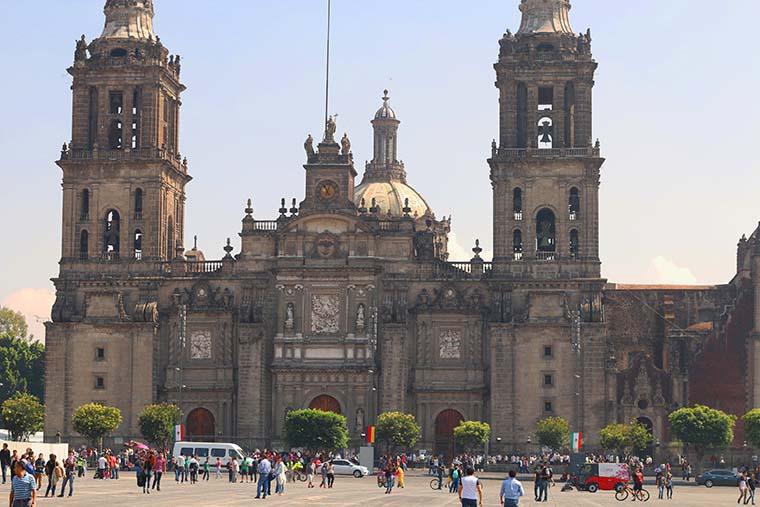 Zócalo ou Plaza de La Constitución na Cidade do México