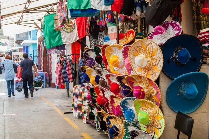 Região para compras na Cidade do México