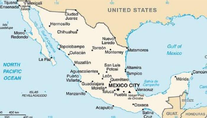 Mapa da Cidade do México
