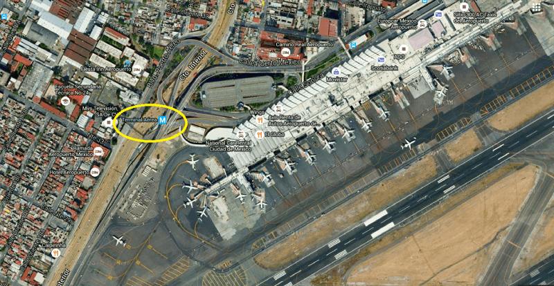 Ir do aeroporto da Cidade do México até o centro histórico de metrô