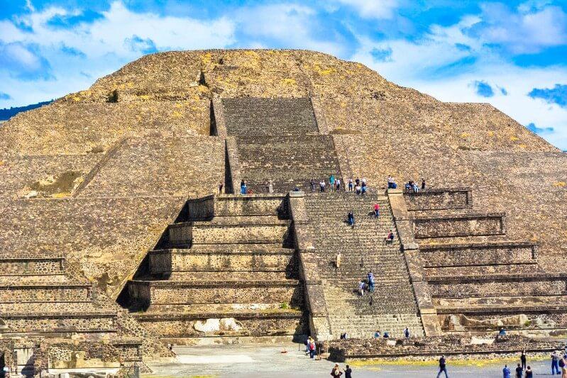 Pirâmides de Teotihuacán na Cidade do México