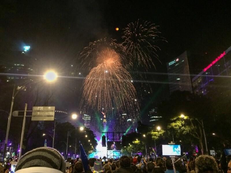Pontos turísticos no Natal e Ano Novo na Cidade do México