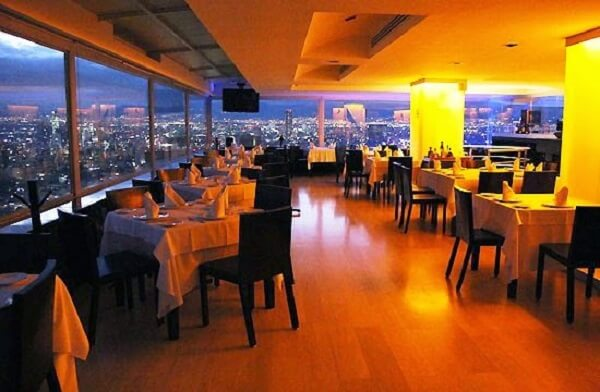 Restaurante na Torre Latinoamericana na Cidade do México