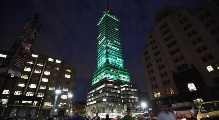 Histórico da Torre Latinoamericana na Cidade do México
