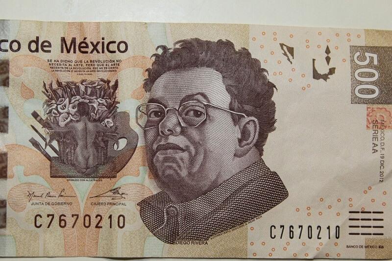 Pesos mexicanos em Tulum
