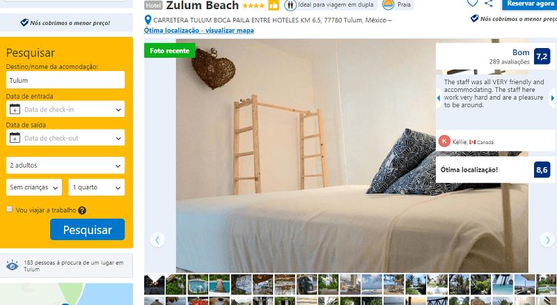 Estadia no Zulum Beach em Zulum
