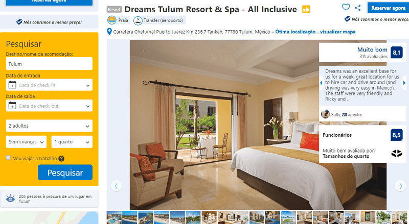 Estadia no Hotel Dreams Tulum Resort & Spa