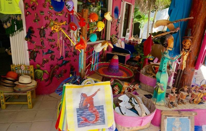 Loja de souvenirs em Tulum