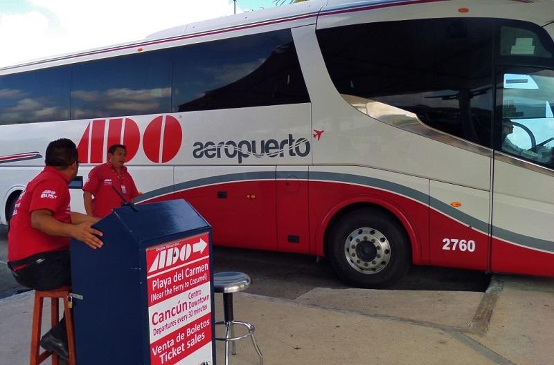 Ônibus do aeroporto de Cancún