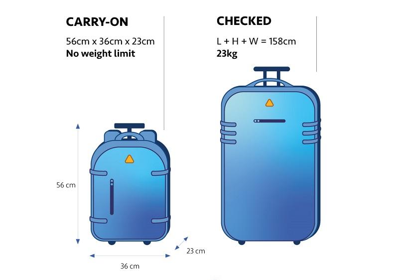 Peso das bagagens em voos internacionais