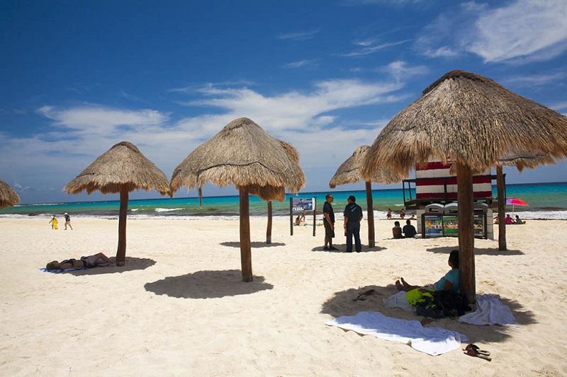Visita a Praia Chac Mool em Cancún