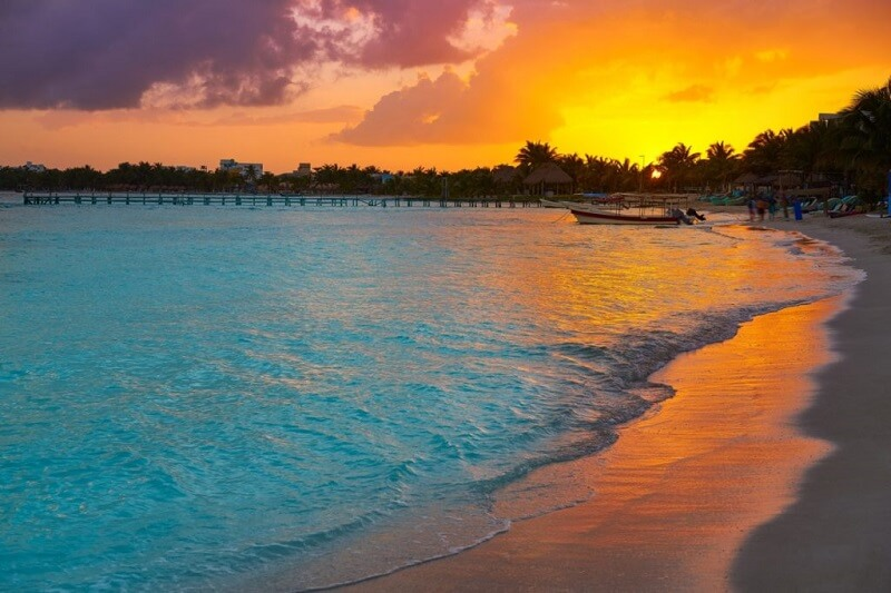 Pôr do sol em Cancún