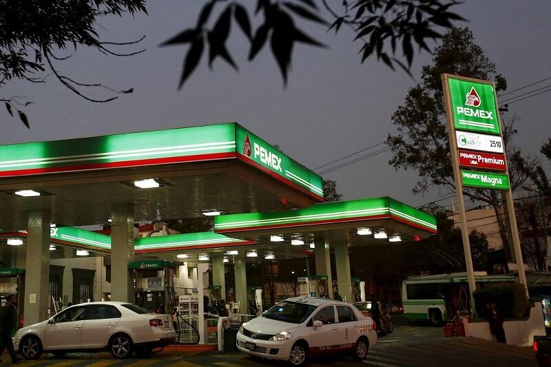 Postos de gasolina no México
