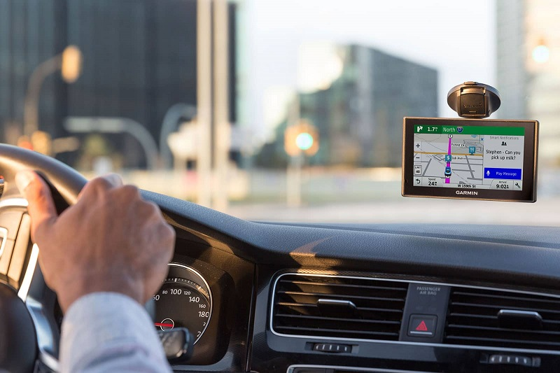 GPS de carro em uma viagem por Los Cabos