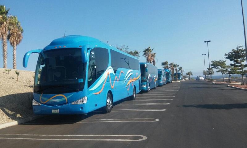 Ônibus para se locomover em Los Cabos