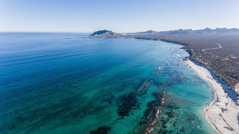 Parque Marinho Nacional Cabo Pulmo no verão em Los Cabos