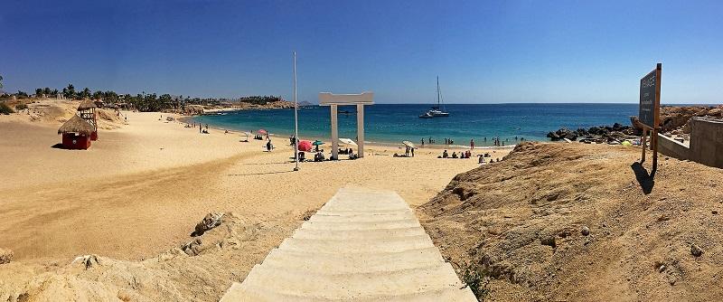 Entrada da Playa Chileno Bay em Los Cabos