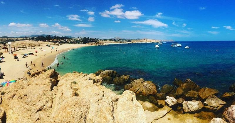 Beleza da Playa Chileno Bay em Los Cabos