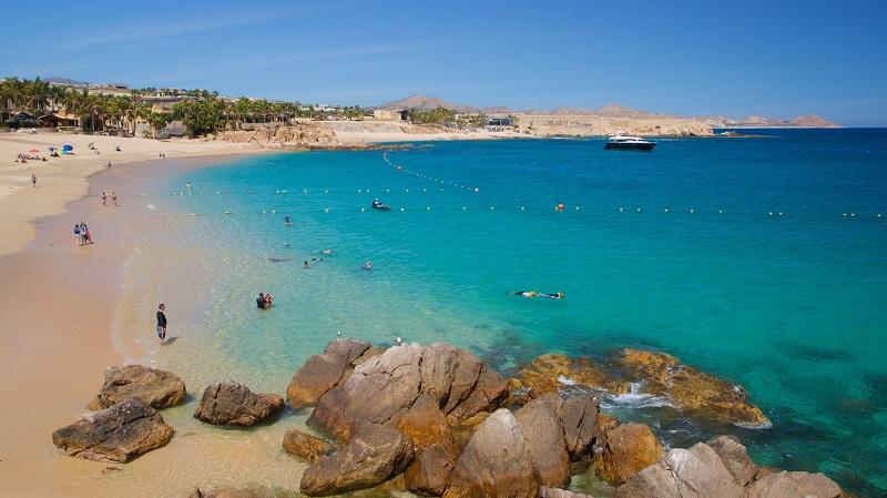 Playa Chileno Bay para ir com crianças em Los Cabos