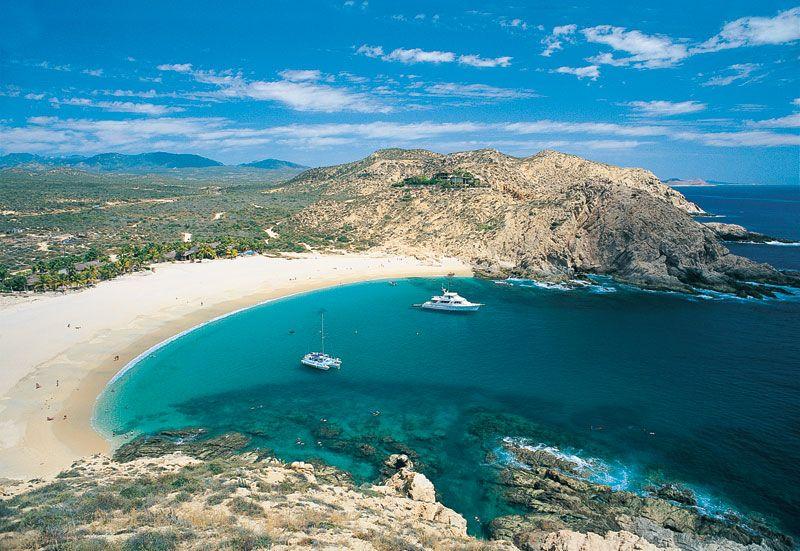Vista paradisíaca da Playa Santa Maria em Los Cabos