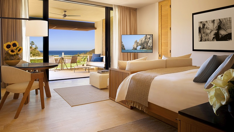 Quarto luxuoso de um hotel em Los Cabos