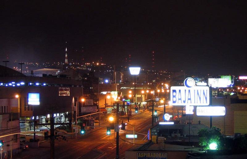 Noite em Tijuana no México
