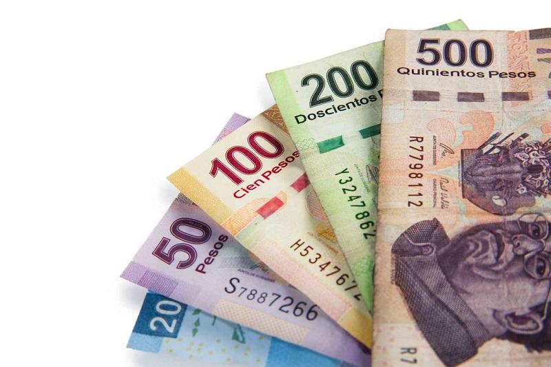 Pesos mexicanos em espécie