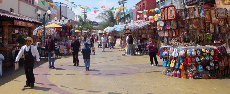Compras nas lojas de rua de Tijuana