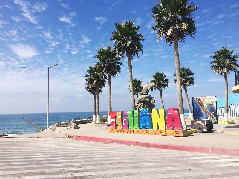 Letreiro de Tijuana no México
