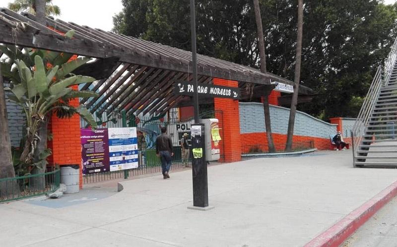 Entrada do Parque Morelos em Tijuana