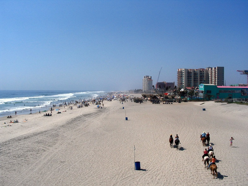 Praia Rosarito em Tijuana