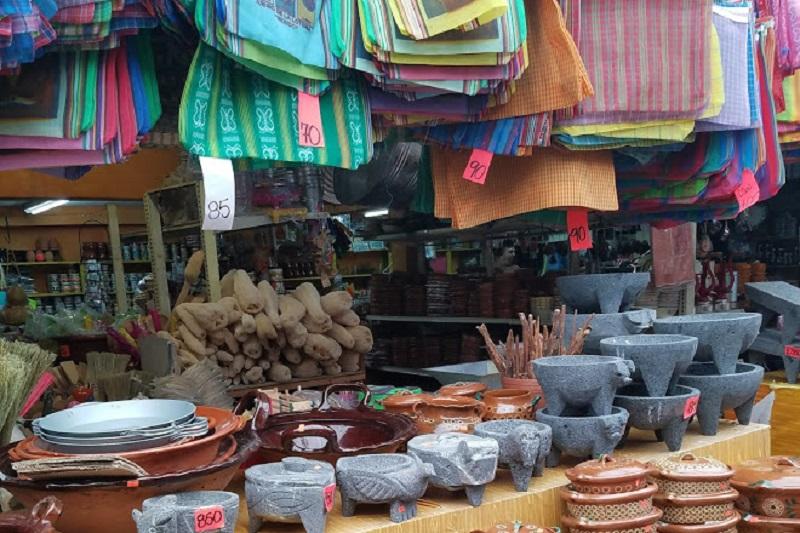 Itens em geral no El Popo Market em Tijuana