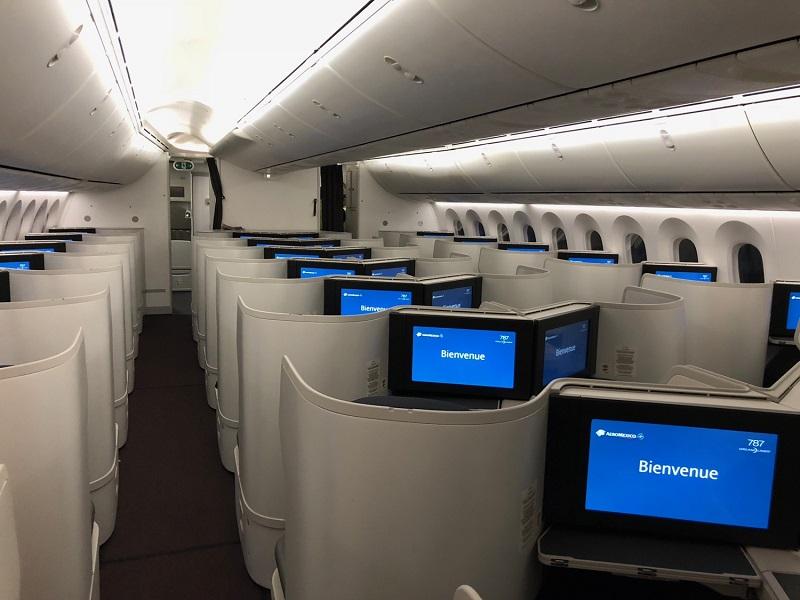 Área interna de avião